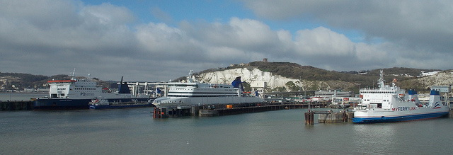 Dover Port and White Cliffs